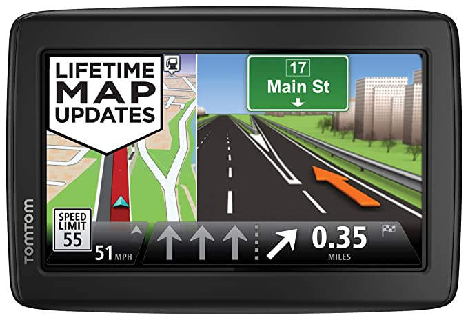 TomTom Incorporated 1EN5 019 13 TomTom VIA 1505M World Traveler Edition  5-Inch Portable Touchscreen Car GPS Navigation Device - Lifetime US,  Canada,