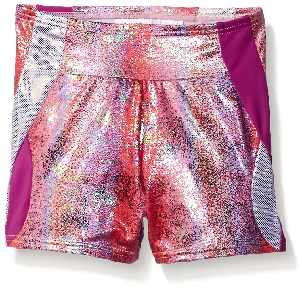 Capezio Big Girls' Gymnastic Double Layout Short, Fireworks Fiesta, X-Large by Capezio