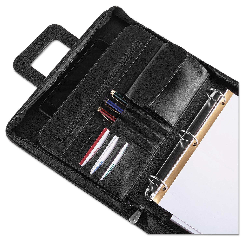 Universal 25650 Zip-Around Padfolio, Vinyl, 14 1/2 x 2 1/2 x 11 1/2, Black by Universal (Image #4)