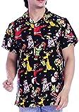 Virgin Crafts Christmas Hawaiian Shirts for Men Couple Santa Claus Vacation Shirts