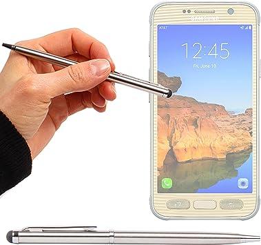 DURAGADGET Lápiz Stylus Plata + Bolígrafo (2 En 1) para Smartphone Samsung Galaxy J2 (2016) / J3 Pro/OnePlus 3: Amazon.es: Electrónica