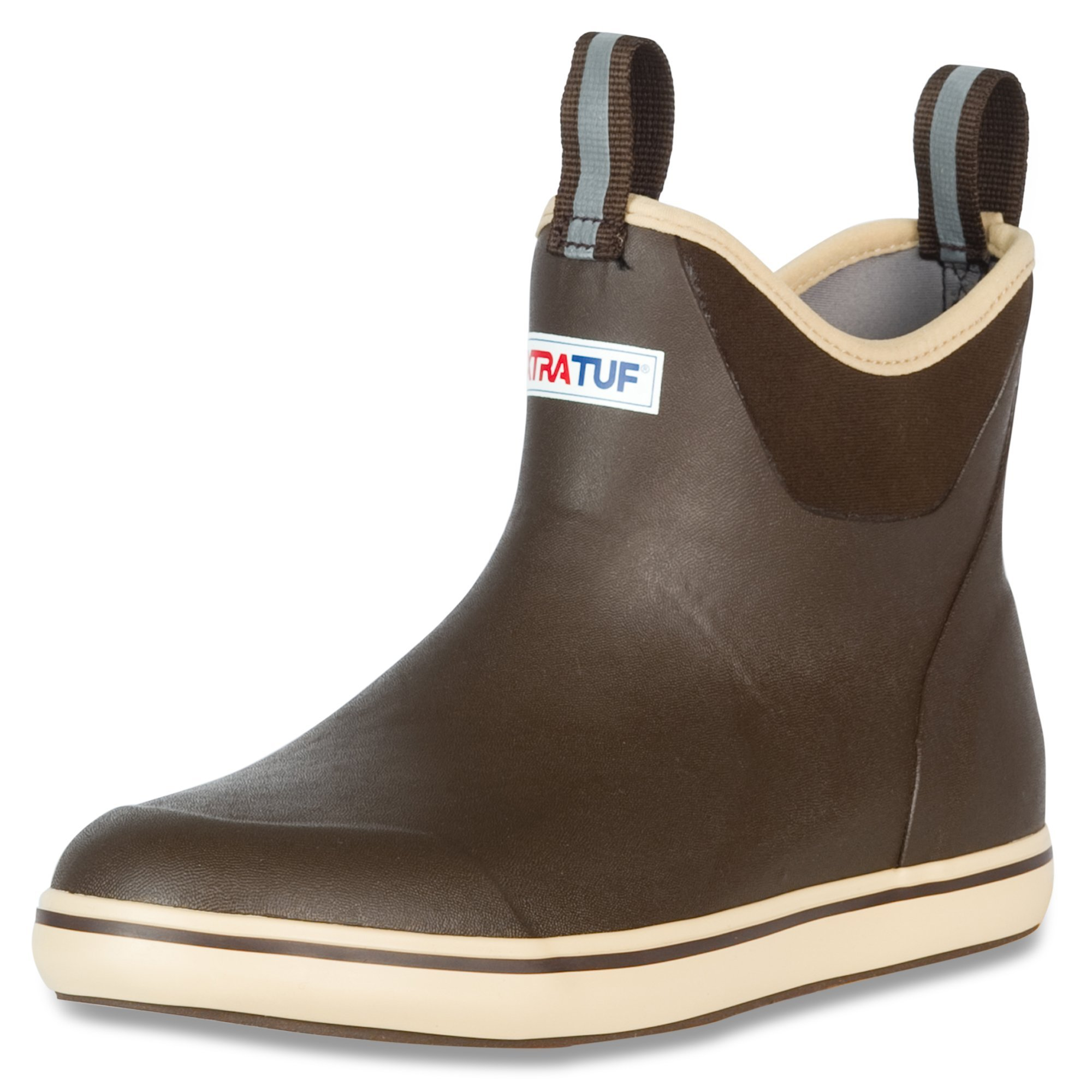 XTRATUF Performance Series 12'' Men's Full Rubber Ankle Deck Boots, Chocolate & Tan (22734) (Renewed)