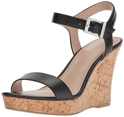 be1934e37552 CHARLES BY CHARLES DAVID Women s Lindy Wedge Sandal Black 6.5 Medium US