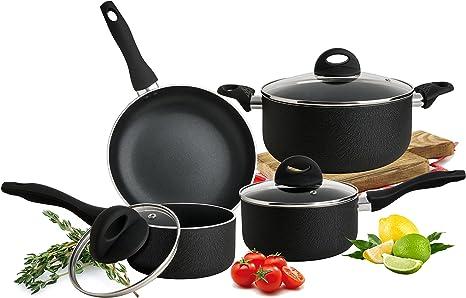 Amazon Com Culinary Edge Cookware Set Black Kitchen Dining