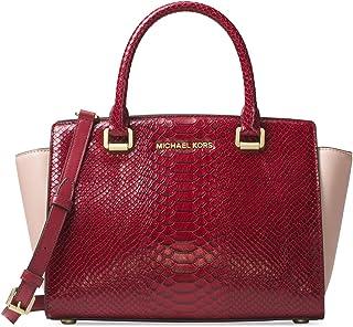 michael michael kors selma satchel black medium handbags amazon com rh amazon com