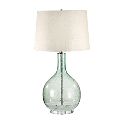 Lamp Works 230g Seeded Glass Table Lamp 28 X 15 X 16 Amazon Com