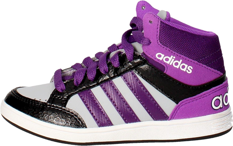 Adidas Hoops Mid K AW5130 Couleur: Blanc Noir Violet