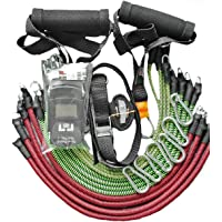 Extensores Elásticos Exercícios Treino em casa Fittogo Cord 115kg elástico revestido com Dina