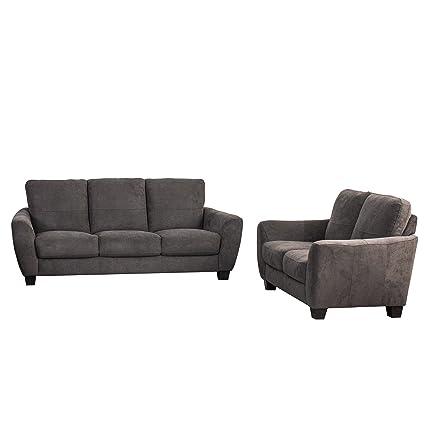 CorLiving LZY 231 Z2 Jazz Sofa Set, Gray
