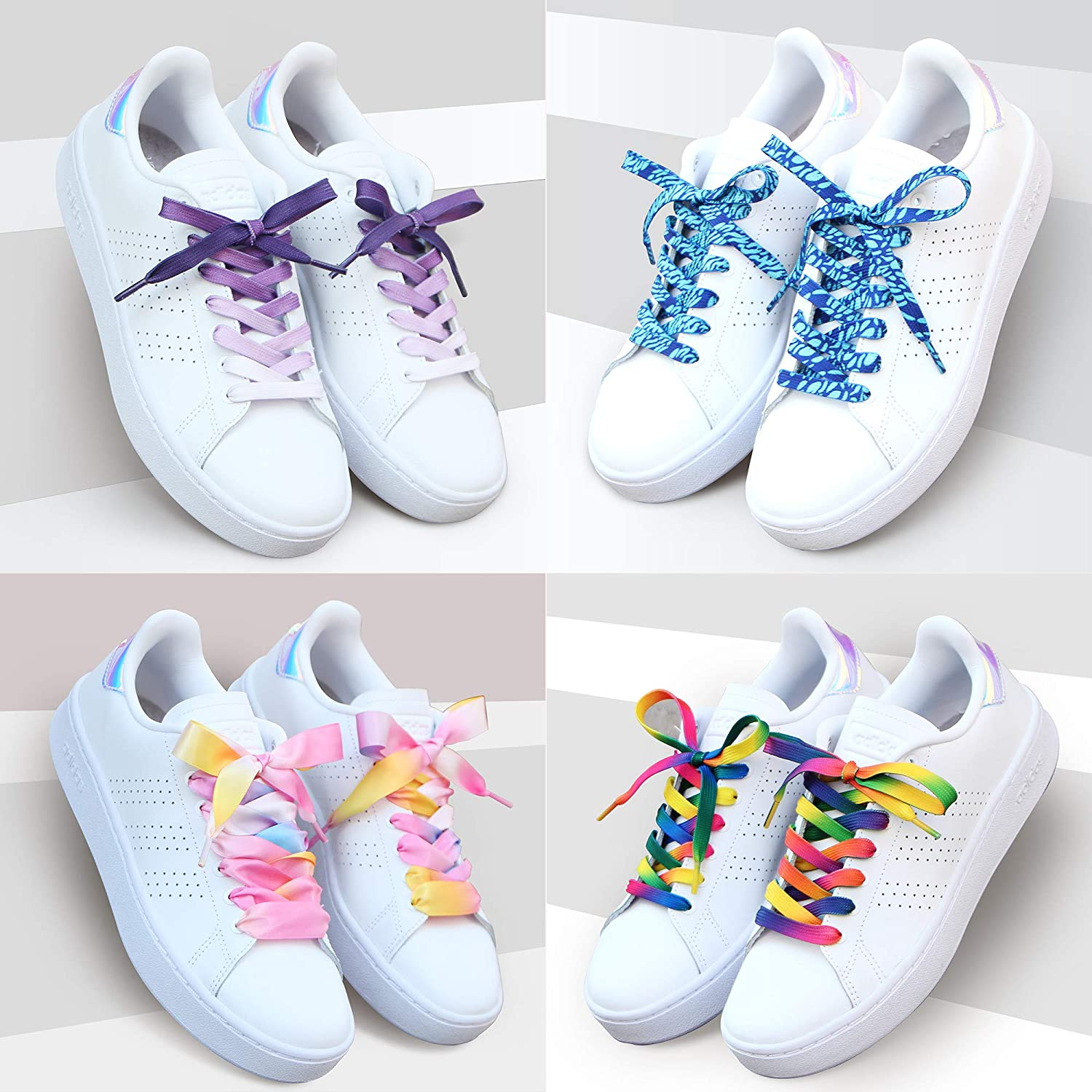 5Chaos Vibrant Shoelaces for Fun Cool Design with Metal Aglets 1 Pair