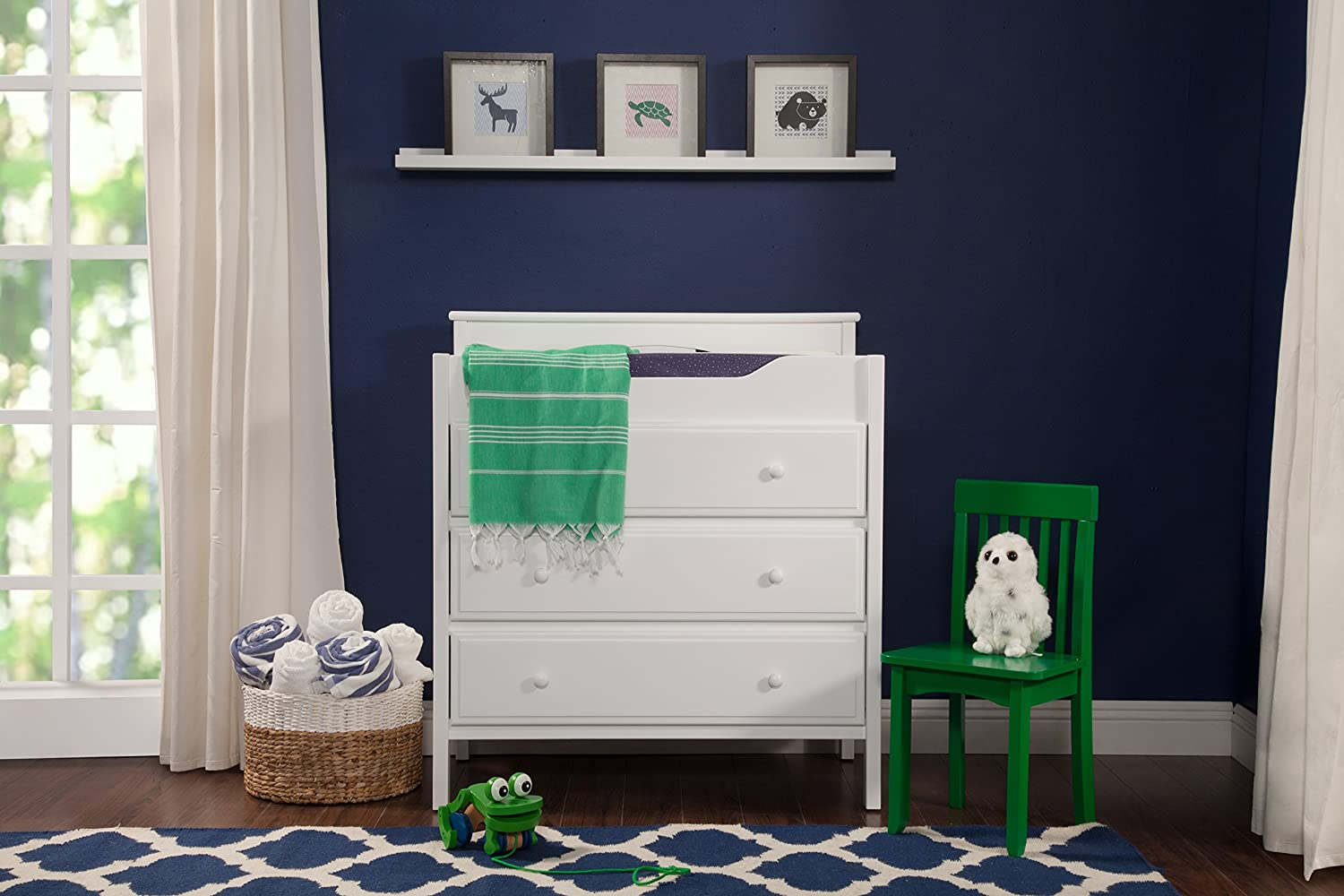Amazon.com : DaVinci 3 Drawer Changer Dresser, White : Changing Tables :  Baby