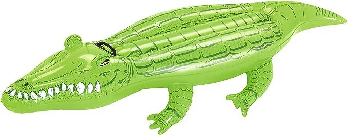 Bestway 41010 - Colchoneta cocodrilo, 1.68 m X 89 cm: Bestway 66 x 31-inches Crocodile Rider: Amazon.es: Deportes y aire libre