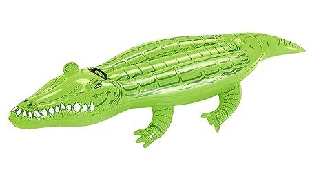 Bestway 41010 - Colchoneta cocodrilo, 168 x 79 cm: Bestway 66 x 31-inches Crocodile Rider: Amazon.es: Deportes y aire libre