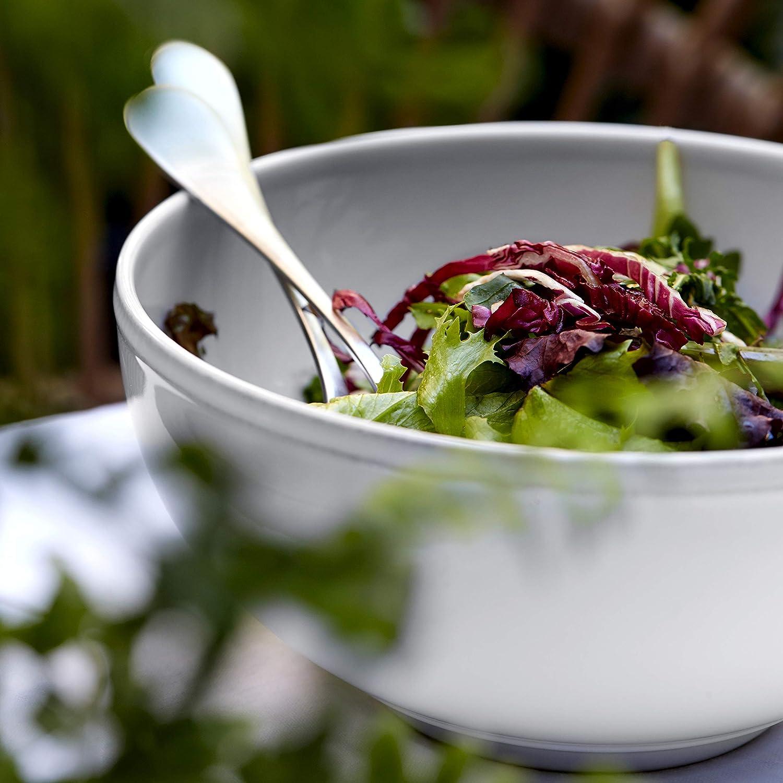 White COSTA NOVA Friso Collection Stoneware Ceramic Salad//Serving Bowl 8.5