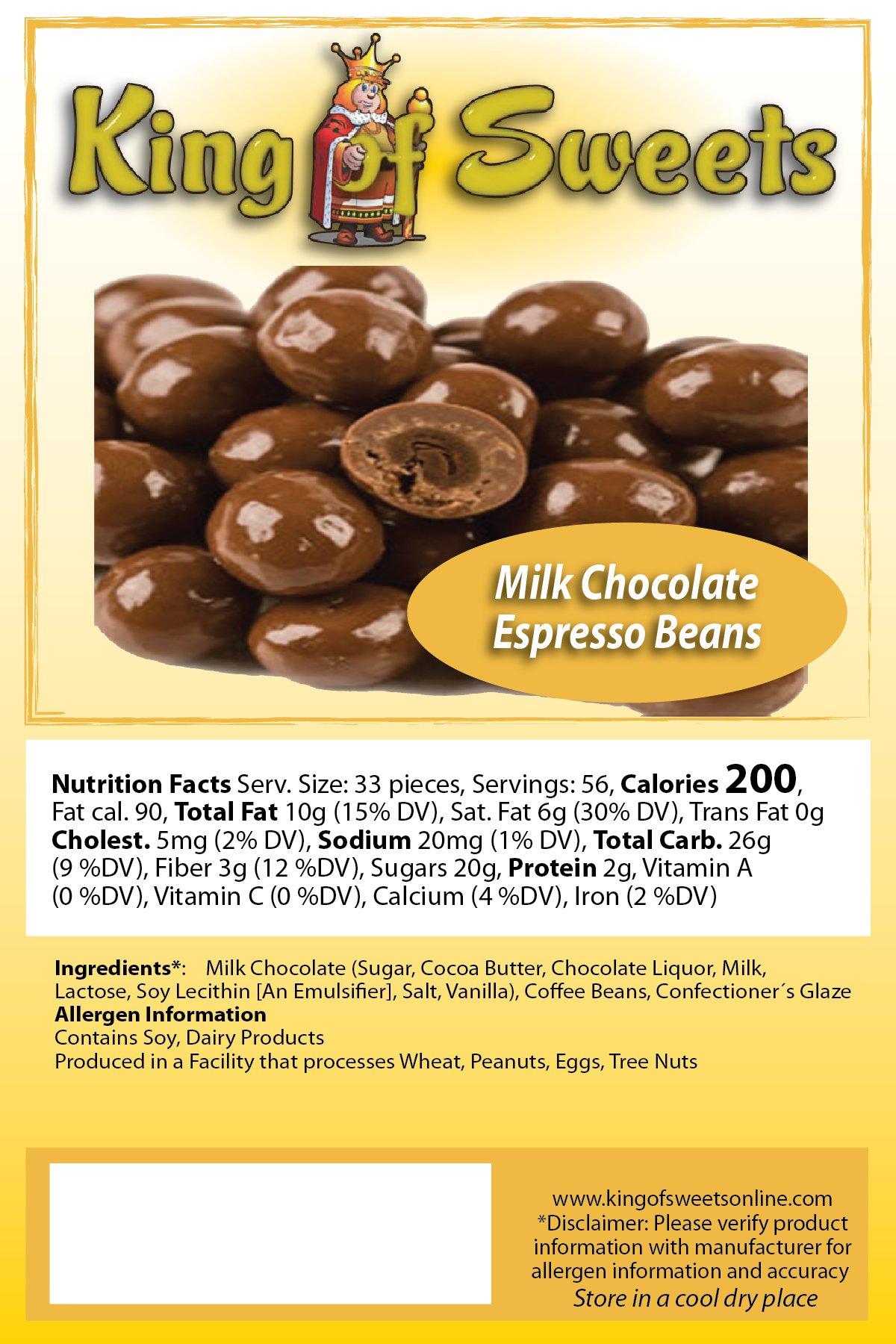 Milk Chocolate Espresso Beans (1 x 5lb bag)