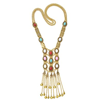 07b0eb9d7f491 Amazon.com: Miraculous Garden Womens Vintage Silver/Gold Turquoise ...
