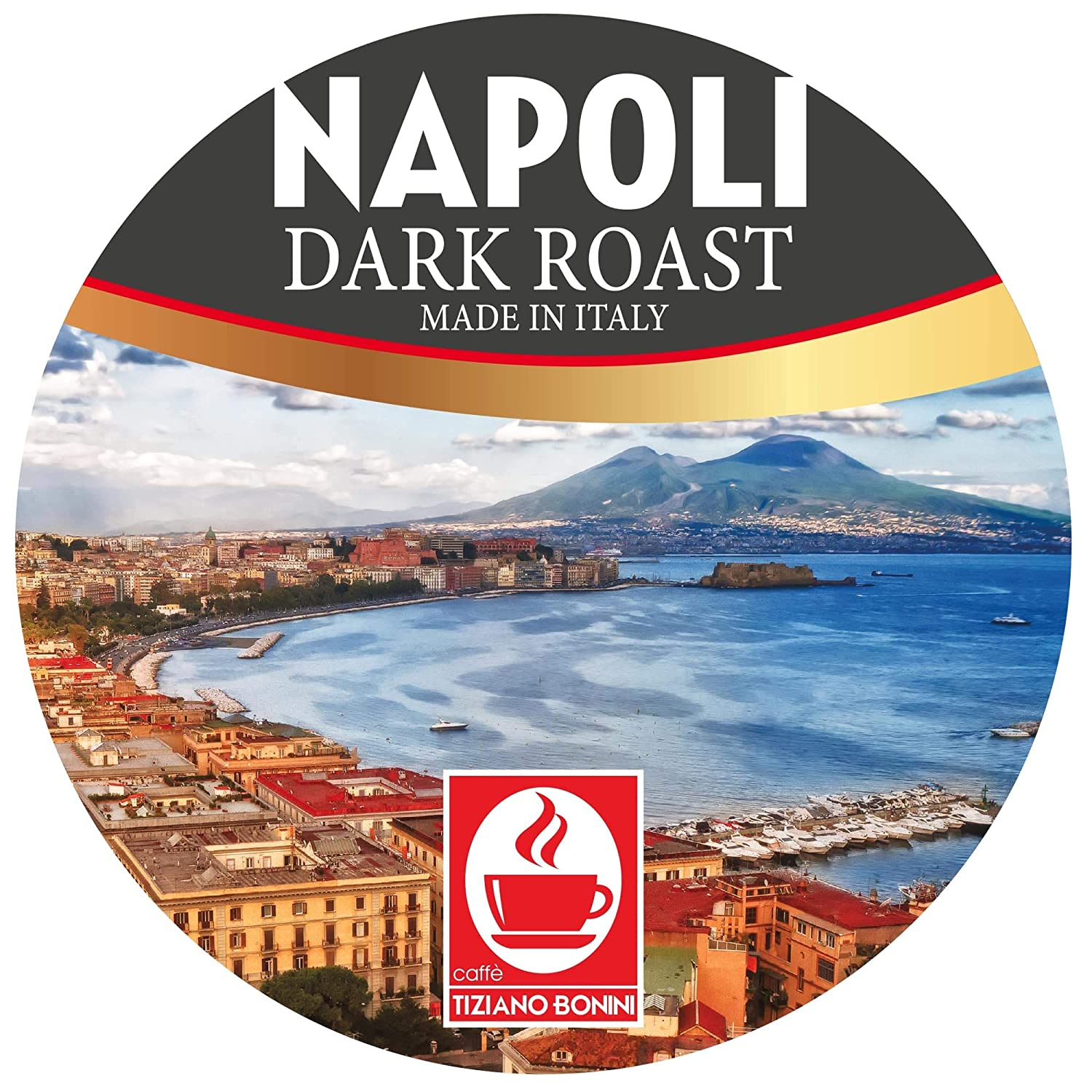 Caffe Bonini Coffee, Napoli Dark Roast Coffee Cup, for the Keurig 2.0 Brewer, 24 Count