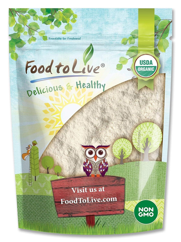 Organic Cassava Flour, 4 Pounds — Non-GMO, Raw Yuca Root Powder, 100% Pure, Kosher, Vegan Superfood, Paleo, Bulk, Wheat Flour Substitute