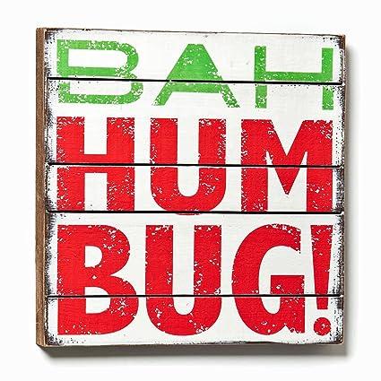 Christmas Decoration - Bah Hum Bug Wall Art - 14