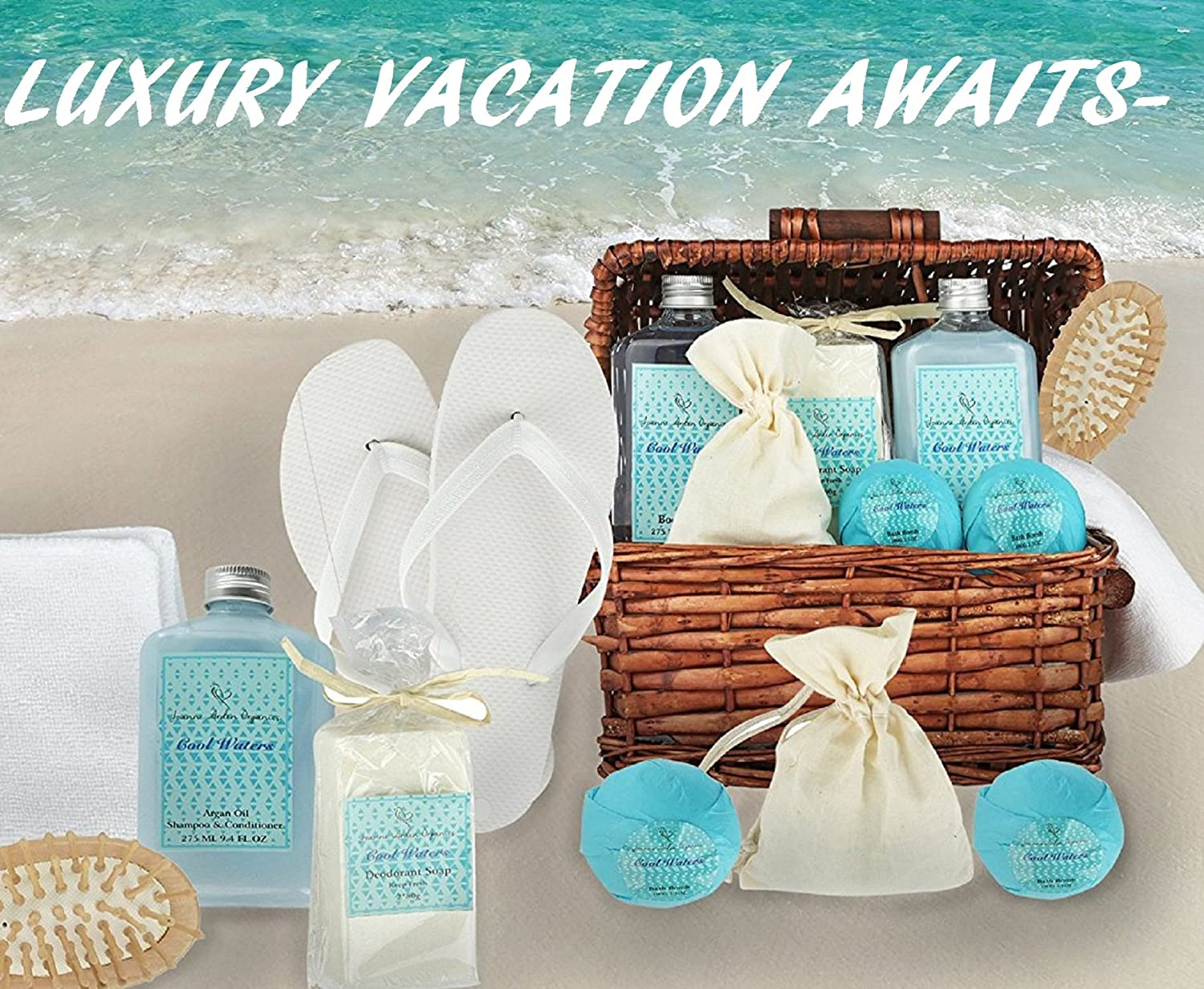 Amazon.com: Deluxe Spa Basket, Cool Waters Gift Baskets for Men ...