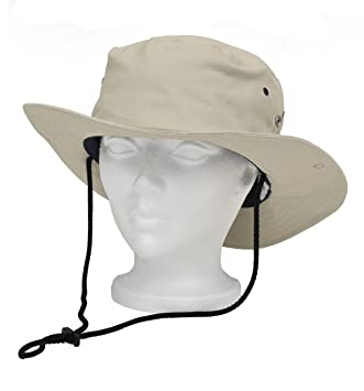 WOREMOR EMF Radiation Protection Bush Hat blocking RF EMF - Cell Towers -  Smart Meters - WIFI (L, Beige)