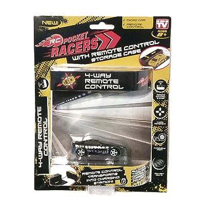 RC Pocket Racers Micro Car AS SEEN ON TV Phantom Black: Toys & Games