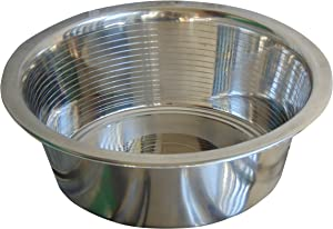 HB Bowl Standard Stainless Steel Large Size Dog and Cat Bowls ~ Metal Food and Water Dish, 11 Cups / 88 Ounce ~ 1 Pack (Sticker Free)