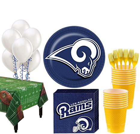 sneakers for cheap 601a1 00b8a Party City Los Angeles Rams Super Party Kit for 18 Guests, Football Party  Supplies, Includes Table Cover and More