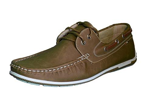 Elifano Footwear Zapatos para Hombre Cuero Mocasines Ligeros Casuales Barco Mocasines Zapatos Británicos Comercio Trabajo Zapatillas