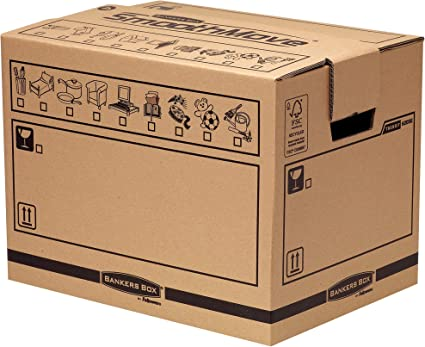 Fellowes Bankers Box - Caja para mudanza, tamaño mediano: Amazon ...