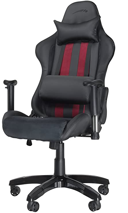 Amazon.com: Speedlink Regger Gaming Optimised Chair With 360 Degree Swivel And Lumbar Support Blackred Stripes Sl-660000-bk: Computers & Accessories