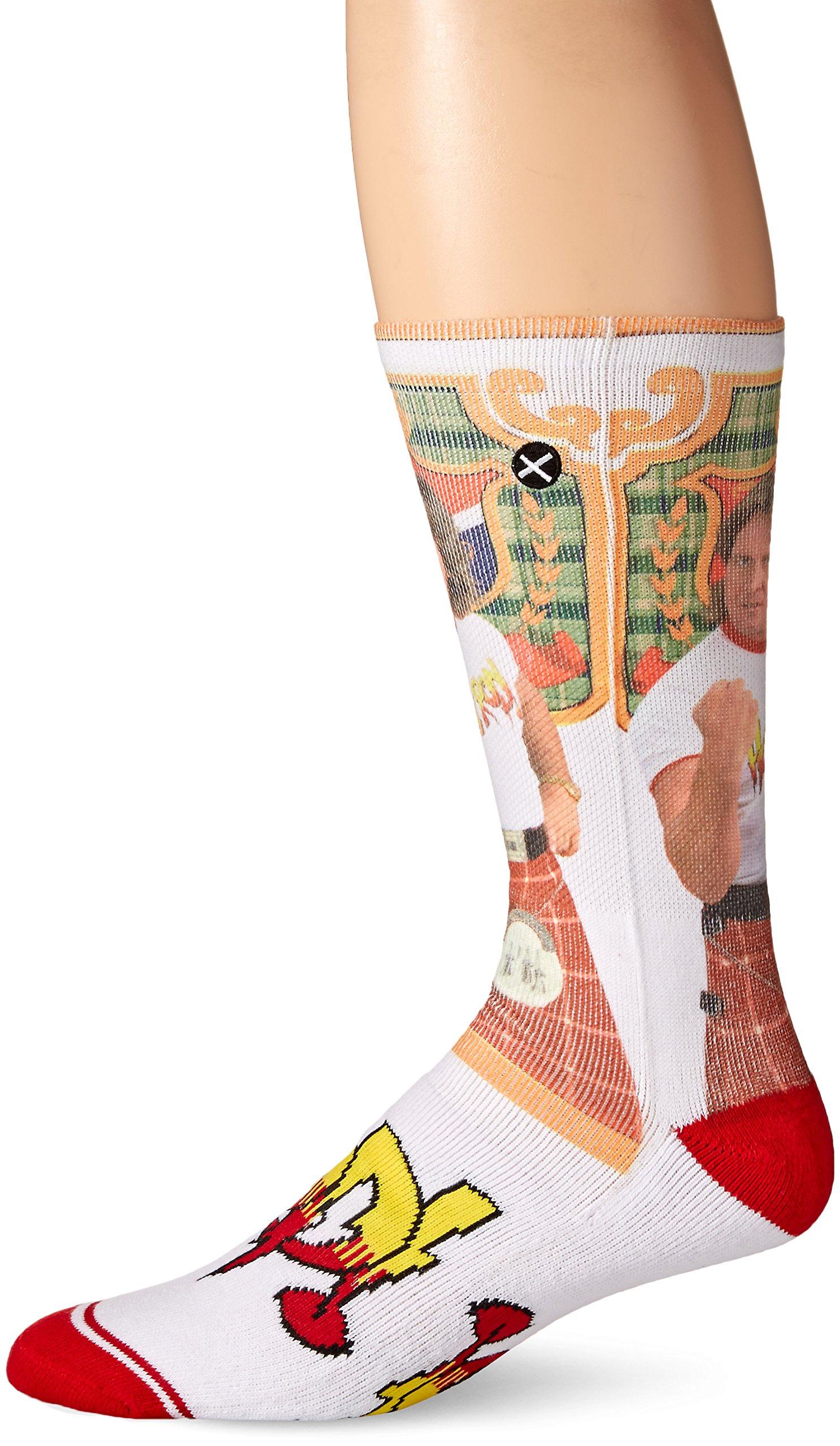 Odd Sox Men's Hot Rod, Multi, Sock Size:10-13/Shoe Size: 6-12