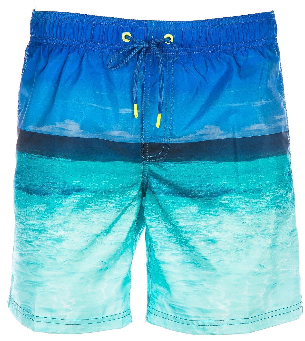 Sundek Swim Short Sea Front in Sky Blau
