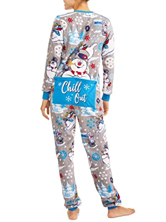 33e276f430 Frosty the Snowman Womens Christmas Union Suit Pajamas Pjs at Amazon ...