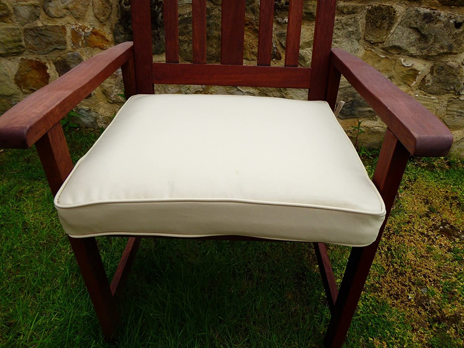 UK Gardens Cream Beige Deep Large Square Garden Furniture Chair Cushion  Seat Pad For Garden Armchair: Amazon.co.uk: Garden U0026 Outdoors Part 85