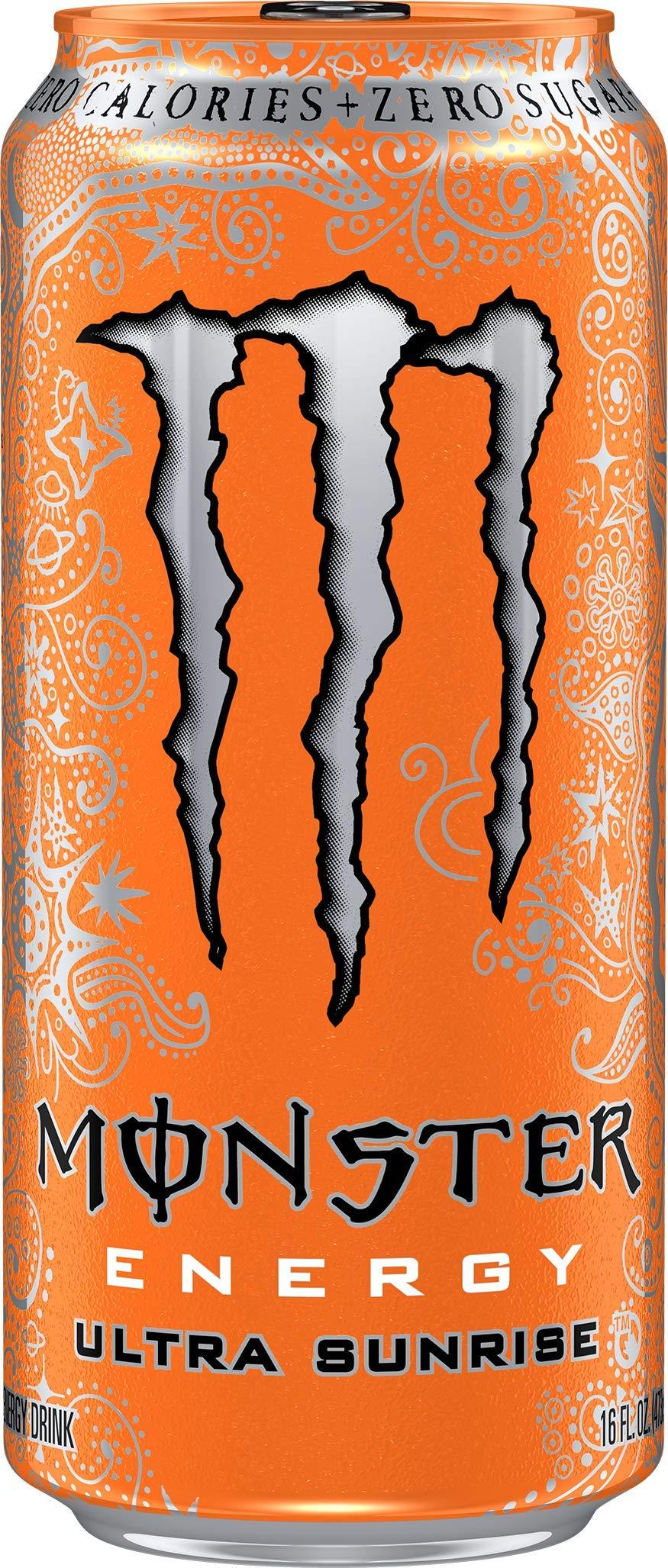 Monster Energy Ultra Sunrise, Sugar Free Energy Drink, 16 Ounce (Pack of 24) by Monster Energy (Image #3)