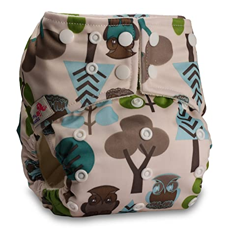 Pattern 3 Baby Cloth Washable Reusable Nappy Pocket Diaper Bamboo with 1 Microfibre Insert Fastener: Popper Littles /& Bloomz