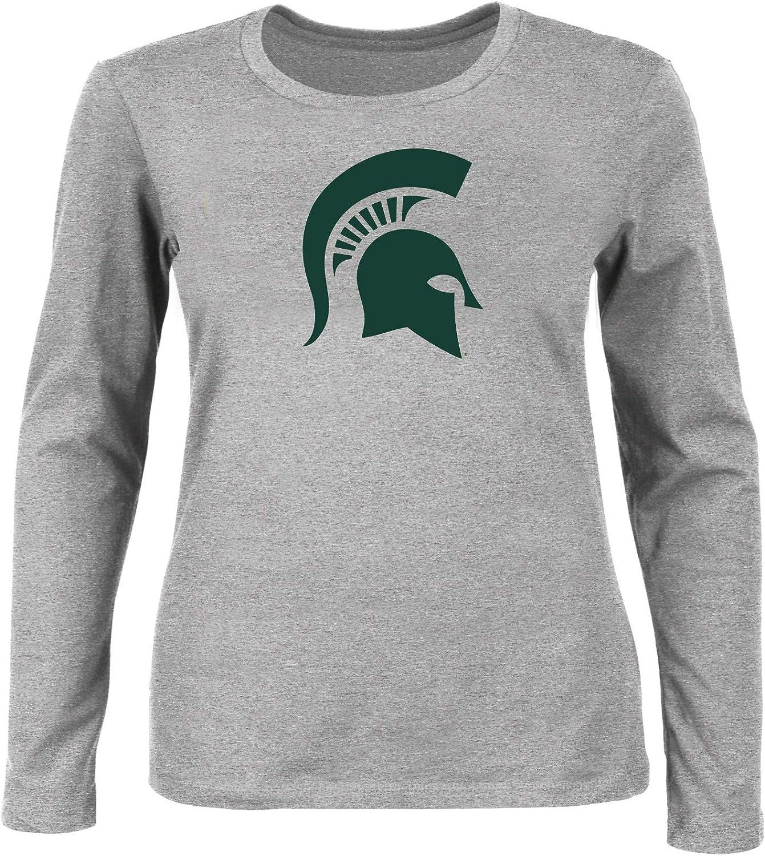 NCAA Womens Plus Size Scoop-Neck Long Sleeve Cotton Tee Shirt