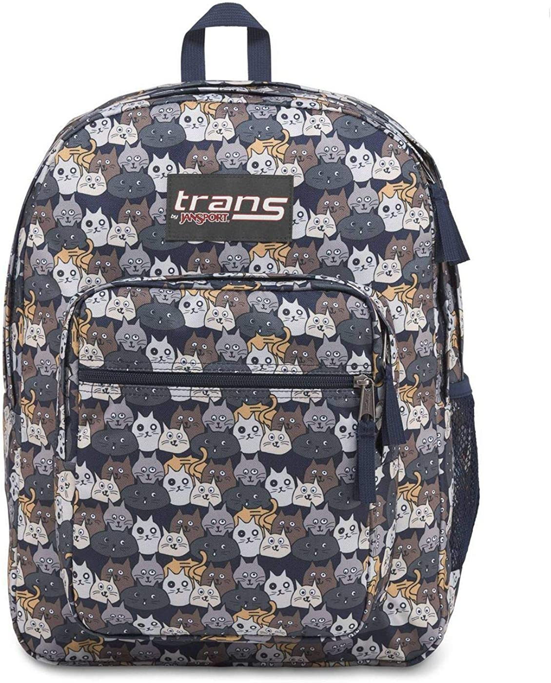 Trans by JanSport 17 SuperMax Cute Cats School Backpack with 15 Laptop Sleeve, Catty Crowd, 2,200 cu in