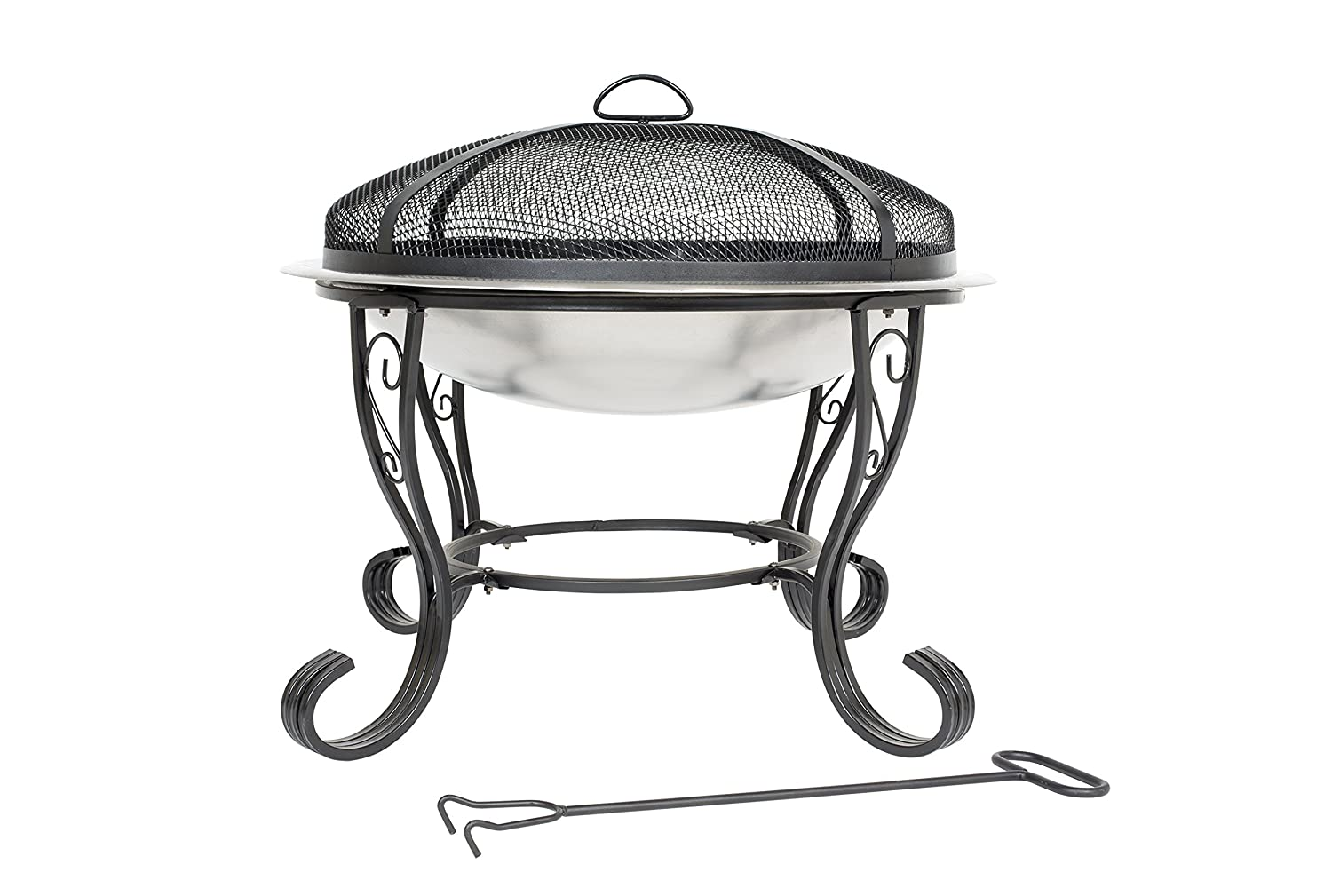 Stainless Steel Firebowl with mesh cover 61cm Buchanan Europe Ltd 58112 505502558112 Garden Furniture