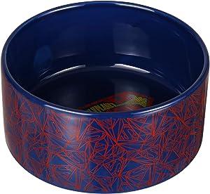DC Comics Superhero Black Ceramic Dog Bowl, 6-Inch  Ceramic Dog Bowl with Official Logo   Medium Dog Food Bowl or Water Bowl for Dry and Wet Food   3.5 Cups 28 oz