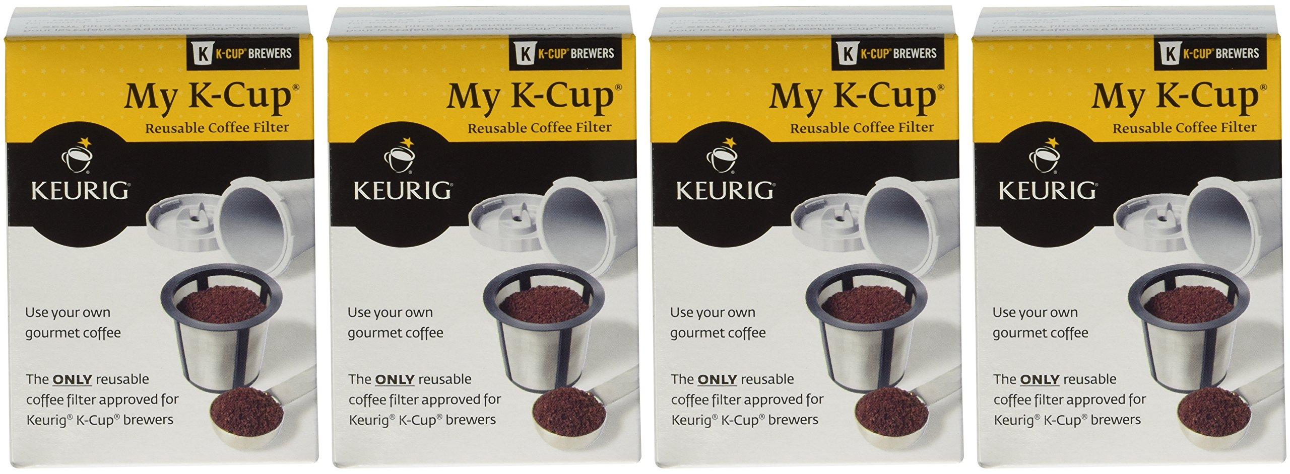 Keurig My K-Cup Reusable Coffee Filter (Gray, 4)
