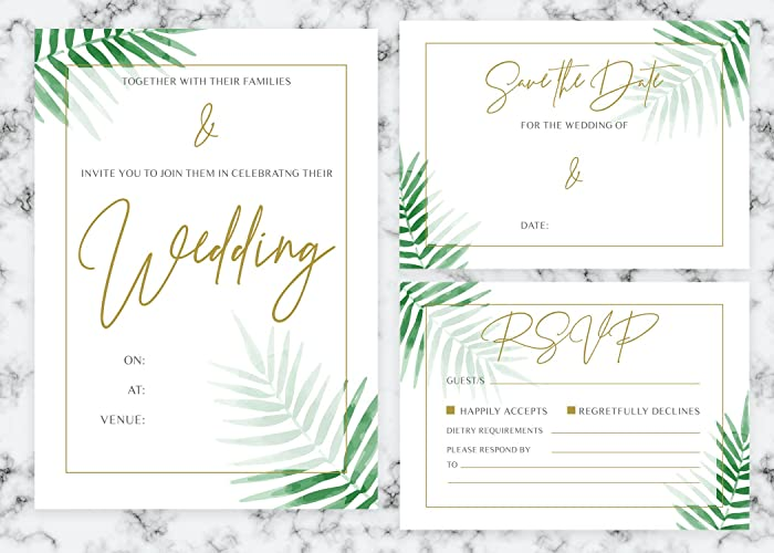Rsvp Wedding Invites Tropical Wedding Stationery Boho