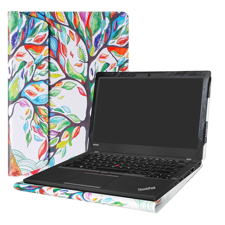 Alapmk Dise/ñado Especialmente La Funda Protectora de Cuero de PU para 12.5 Lenovo ThinkPad A275 A285 /& ThinkPad X280 X270 X260 X250 X240 Ordenador port/átil,Rojo
