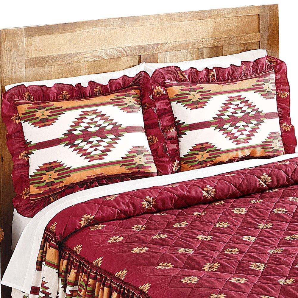 南西部Aztec Taos Native American枕シャム、レッド B01IJMSONA