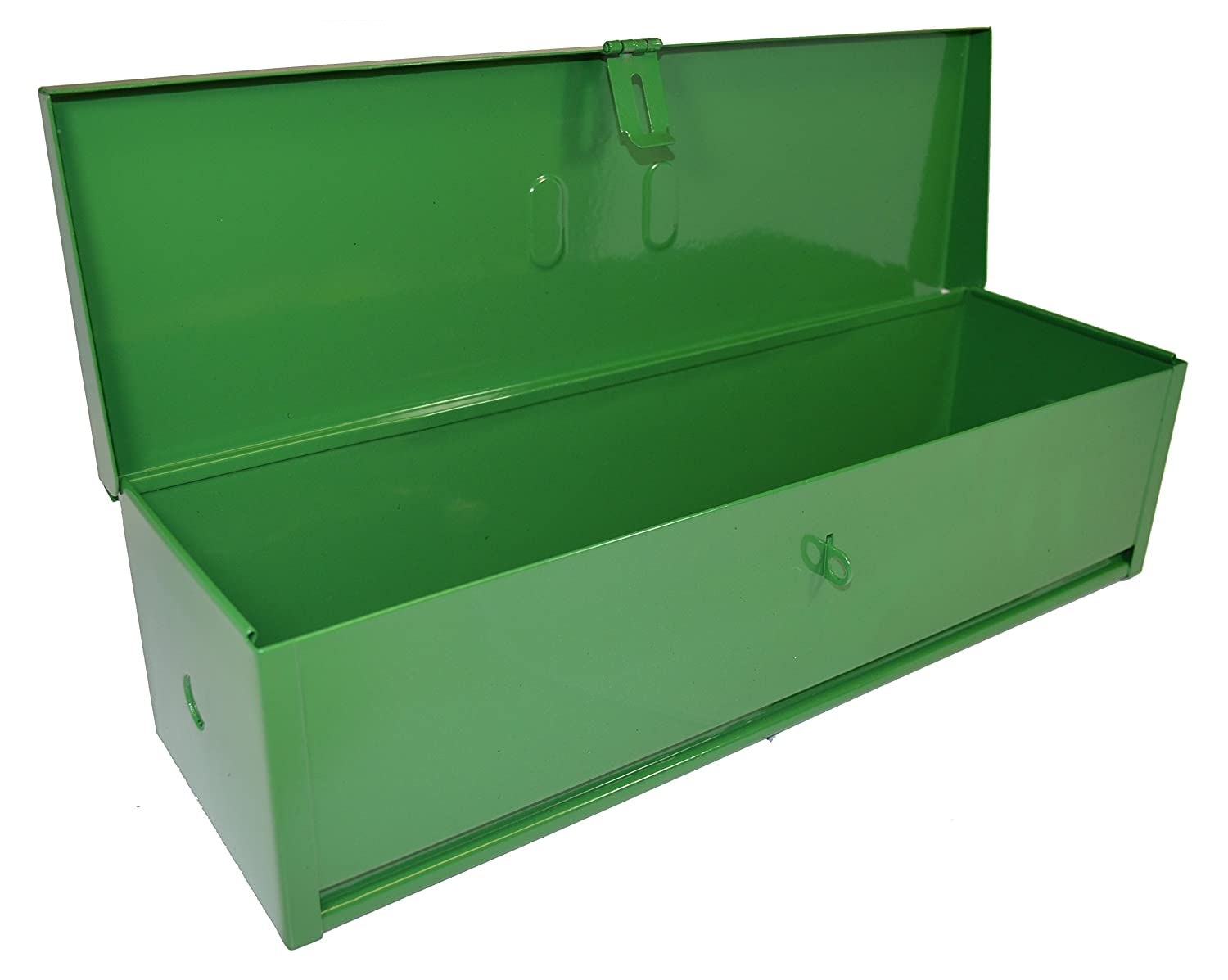 Mounting Hardware Included Green RanchEx 102423 Tool Box Portable for Trucks//Tractors 16