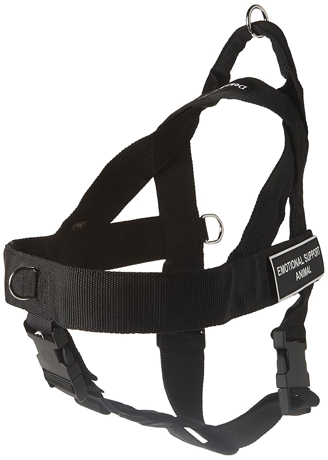 Dean & Tyler Universal No Pull Dog Harness, Emotional Support Animal, X-Large, Fits Girth Size  36-Inch to 47-Inch, Black