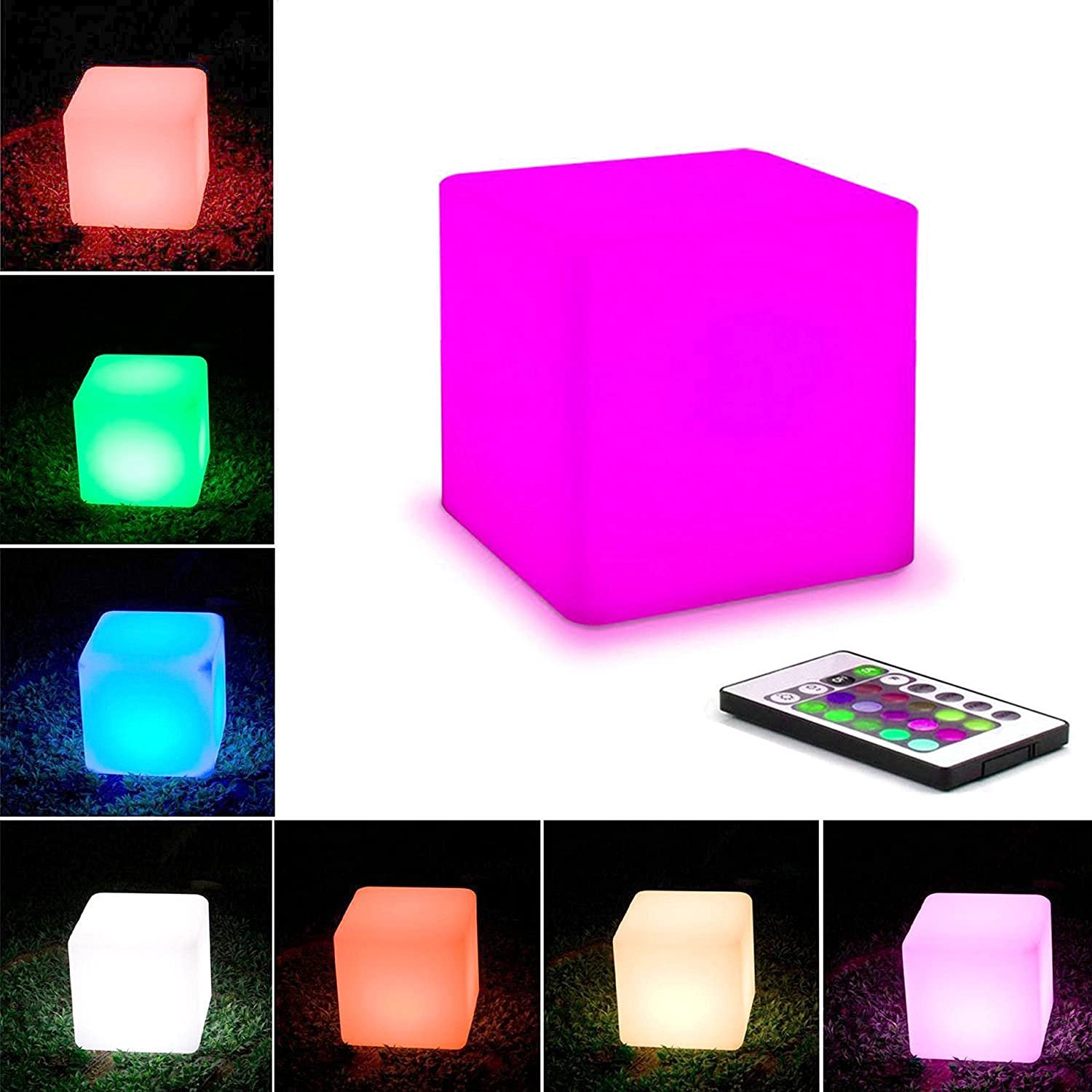 Com buy 10cm cube decorative battery operated rgb led table lamps - Amazon Com Coolqing Waterproof Floating 10cm 4inch Led Cube Lights Rgbw Color Changing Night Cube Table Lamp Pool Light With Rc Ideal For Indoor