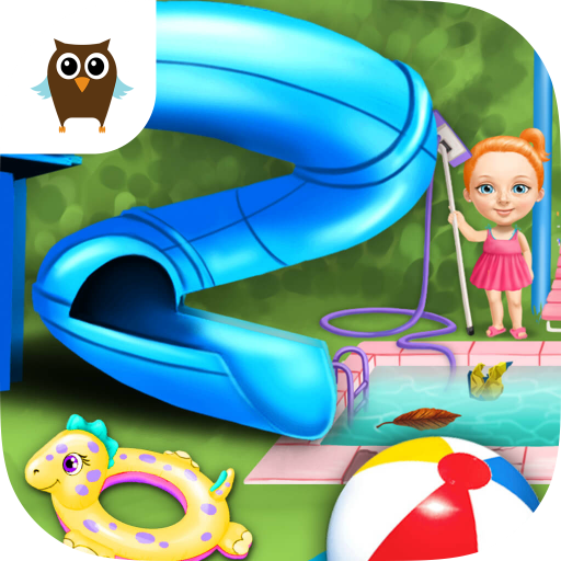 Sweet Baby Girl Cleanup 4 - House Makeover, Pony Care & BBQ Pool (Q Games)