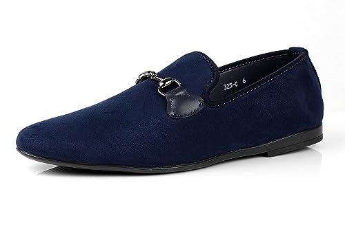 JAS Hombre Sin Cierres Diseño Italiano Mocasines Zapatos de Conducción Mocasin Casual Negro O Azul Marino Color Moda Diseño Italiano: Amazon.es: Zapatos y ...